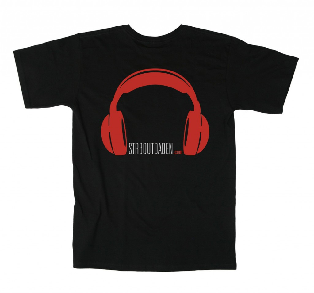 str8outdaden tee black