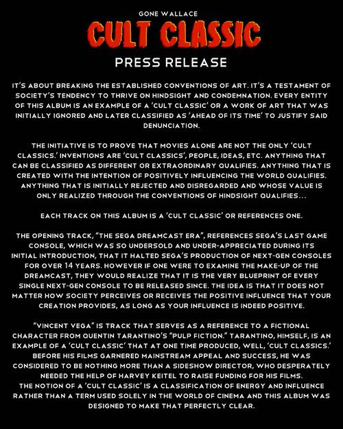 cult classic press release