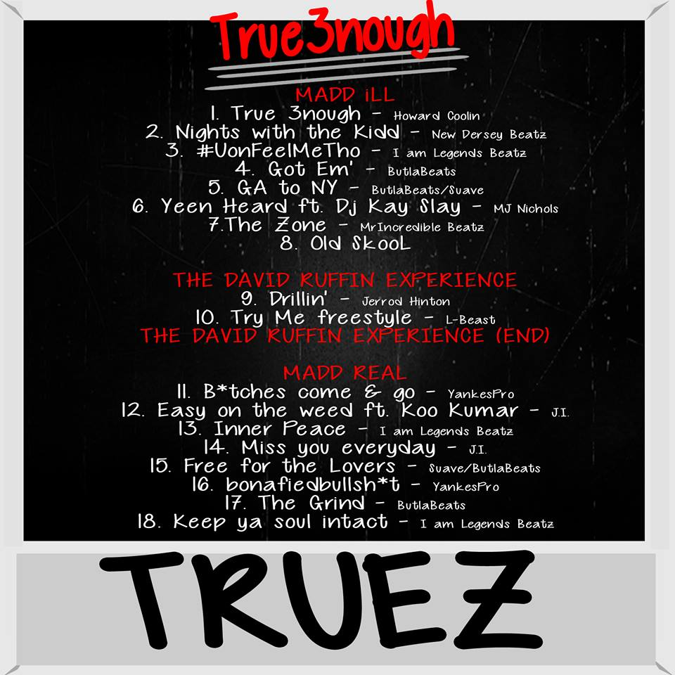 tru3nough tracklist