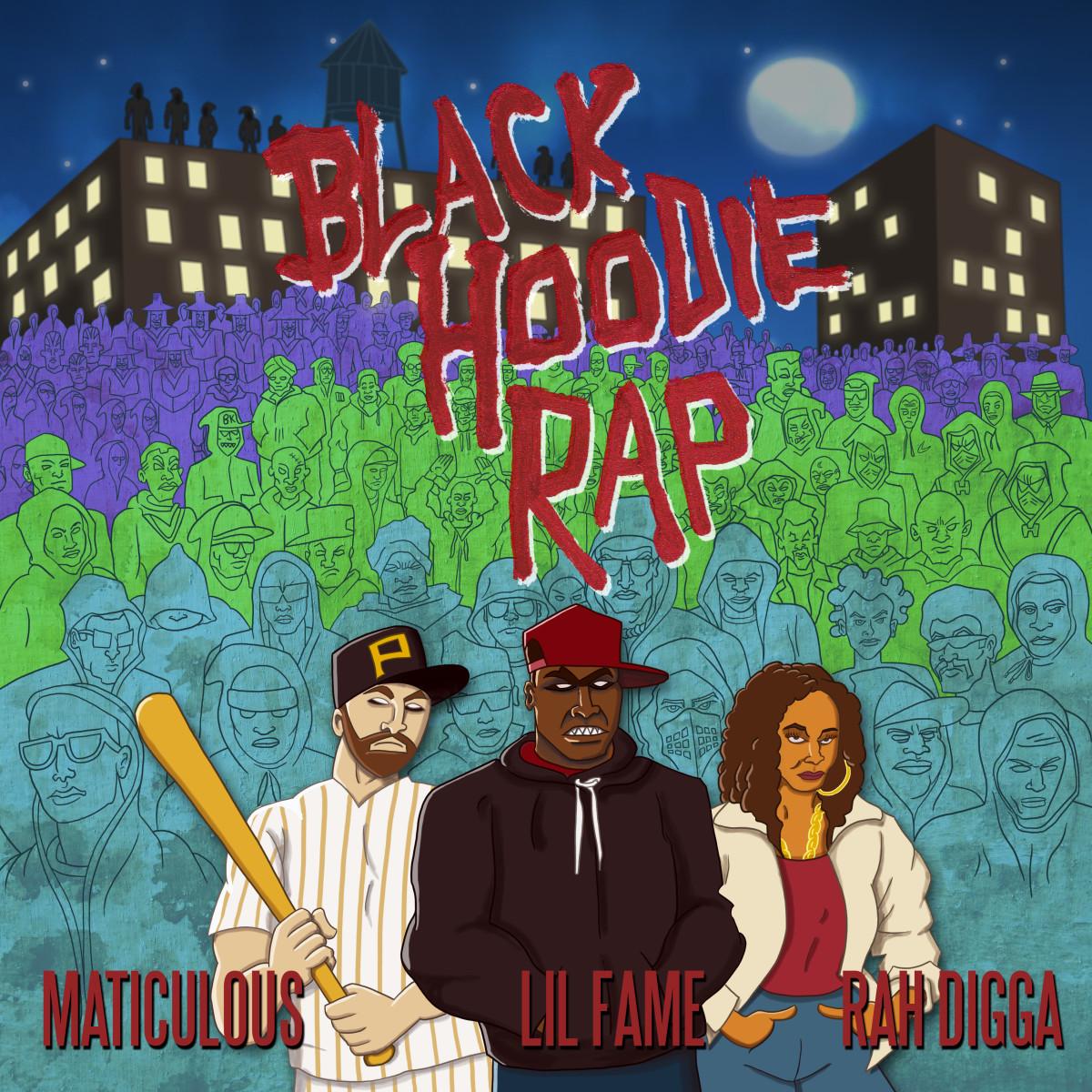 Black Hoodie Rap Artwork