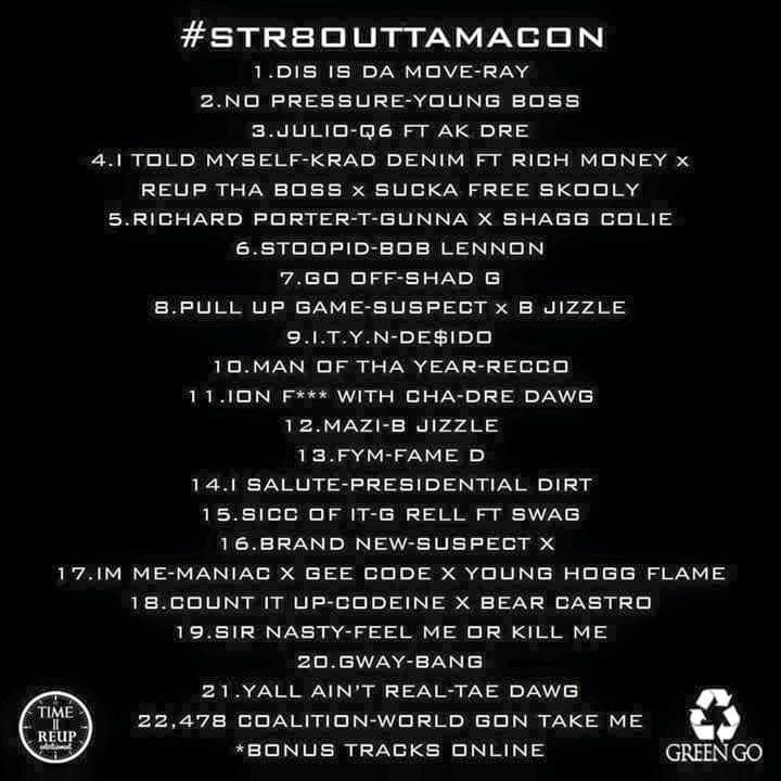 straight outta macon tracklist