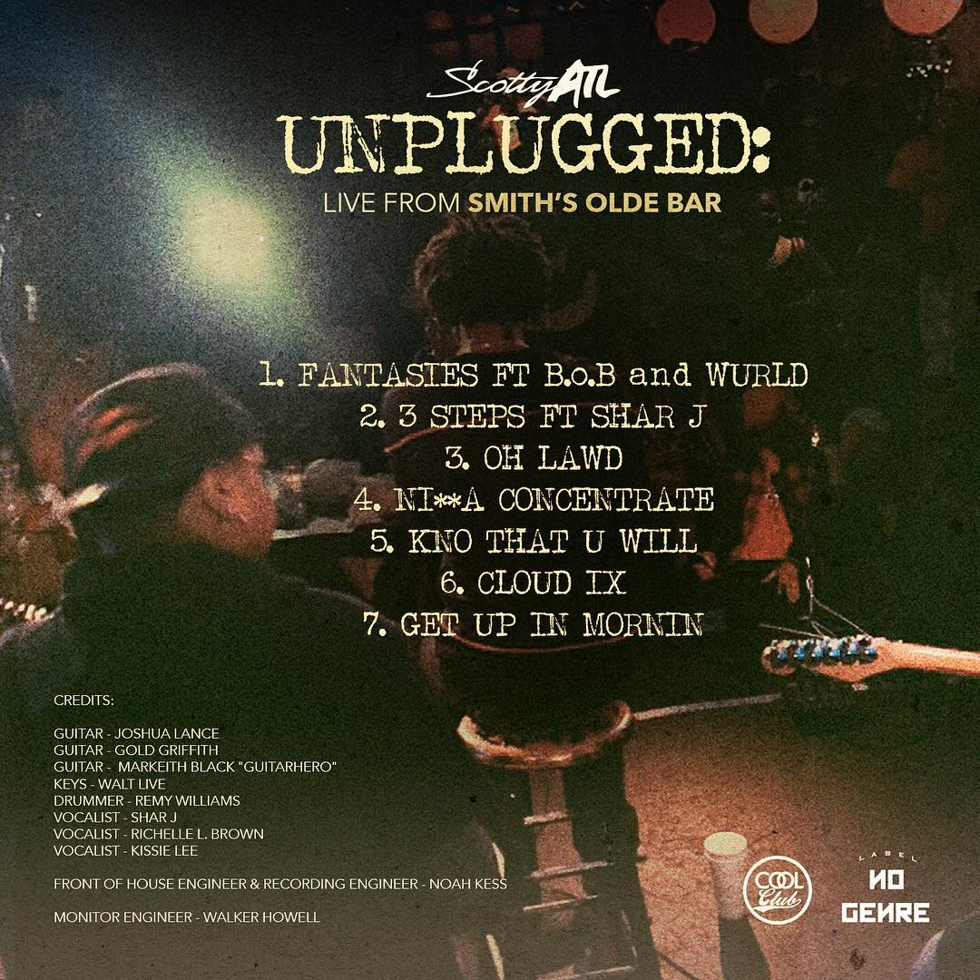 Scotty ATL Unplugged Tracklist